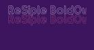 ReSiple BoldOutline