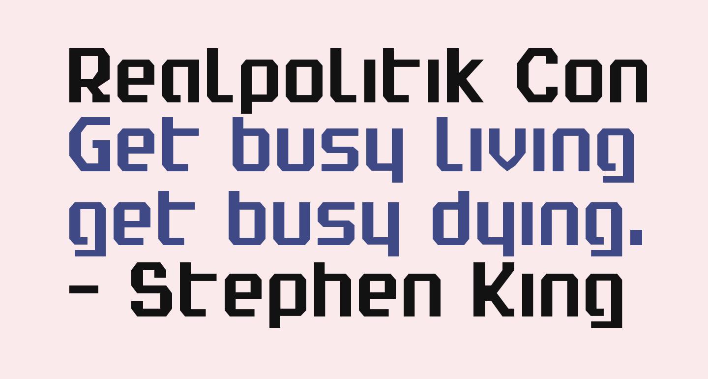 Realpolitik Condensed