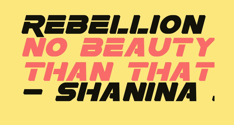 Rebellion Italic