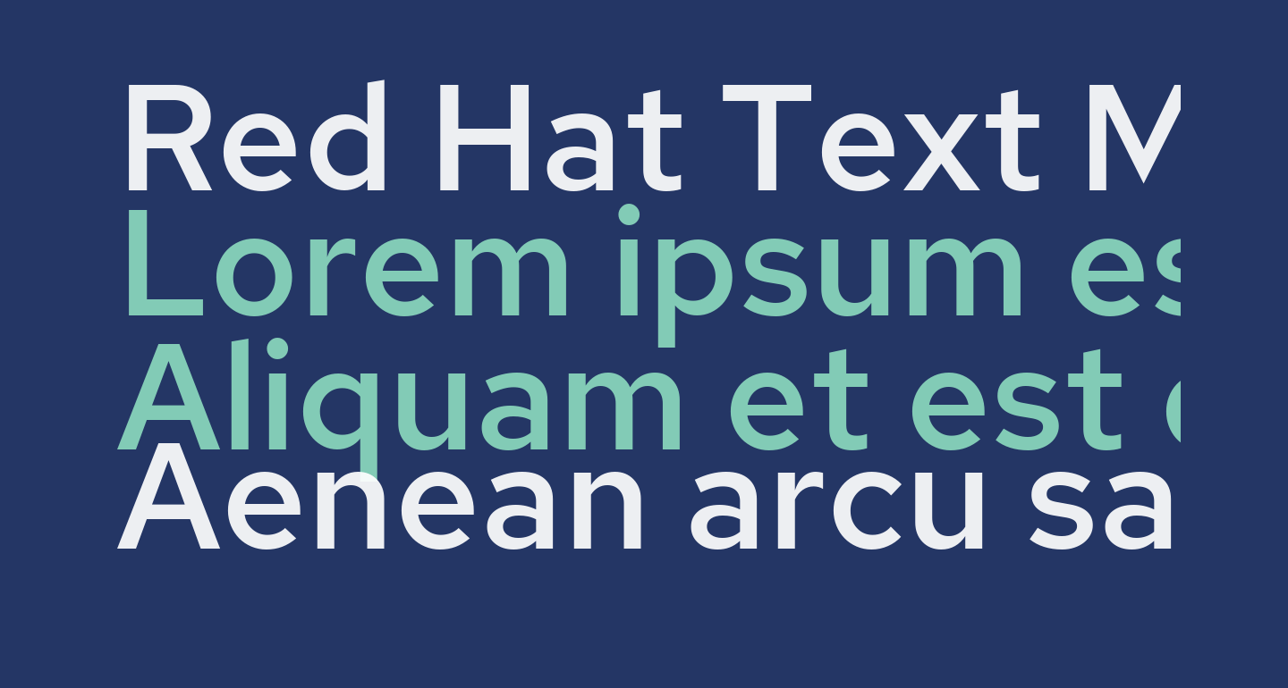 Red Hat Text Medium