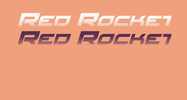 Red Rocket Halftone Italic