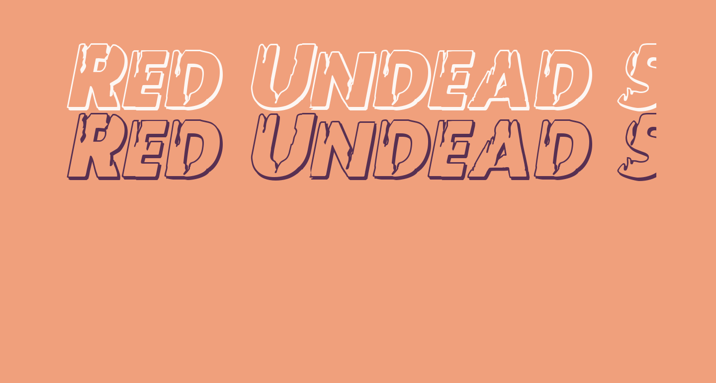 Red Undead Shadow Italic