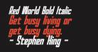 Red World Bold Italic