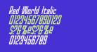 Red World Italic
