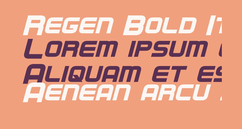 Regen Bold Italic