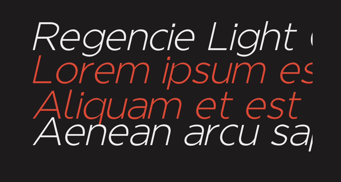 Regencie Light Oblique