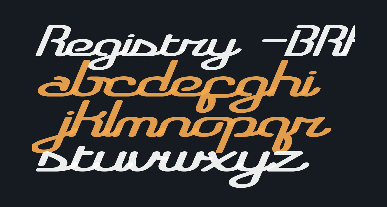 Registry -BRK-