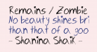 Remains / Zombie