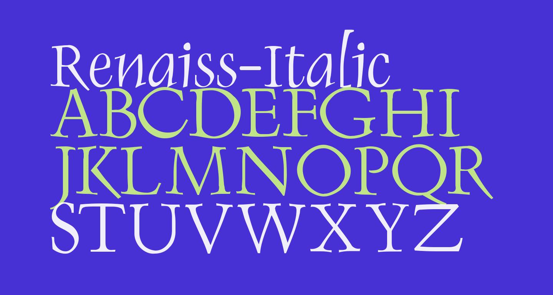 Renaiss-Italic