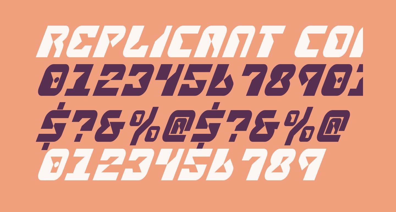 Replicant Condensed Italic