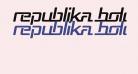 Republika Bold Italic