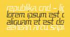 Republika Cnd - Light Italic