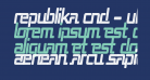 Republika Cnd - Ultra Italic