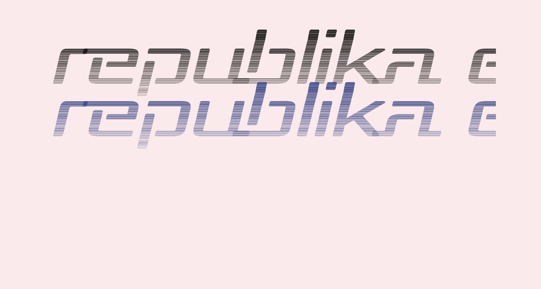 Republika Exp - Haze Italic
