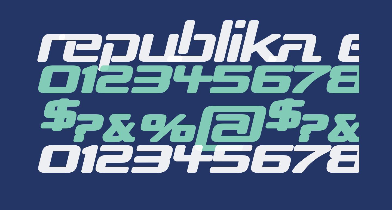 Republika Exp - Ultra Italic