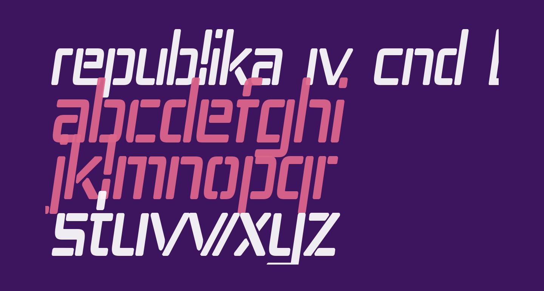 Republika IV Cnd Bold Italic
