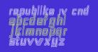 Republika IV Cnd - Maze Italic