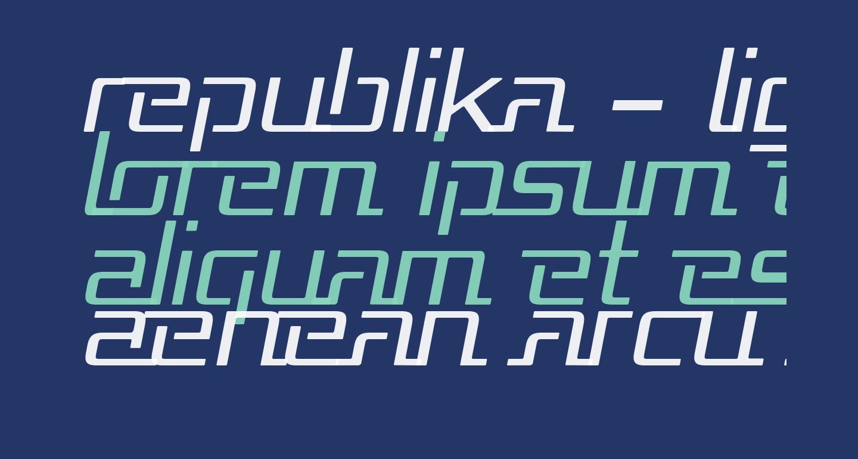 Republika - Light Italic