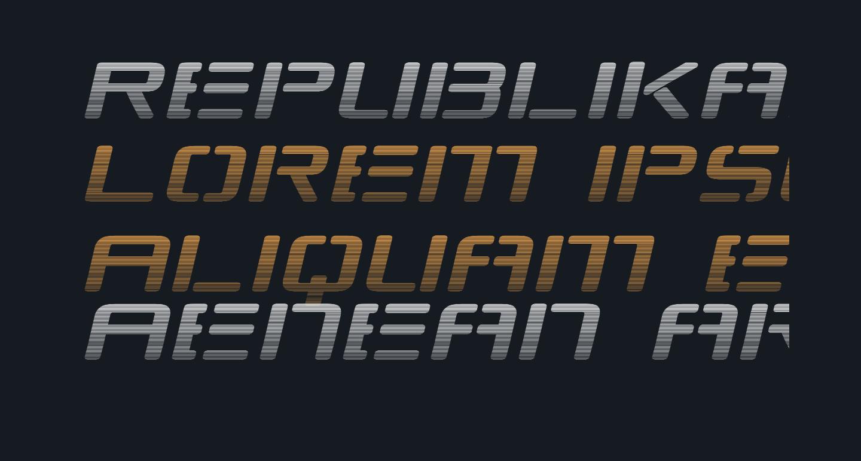 Republikaps Exp - Haze Italic