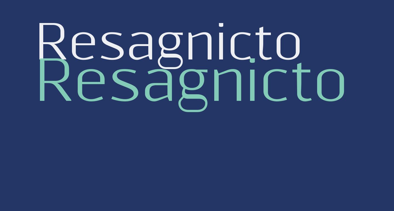Resagnicto