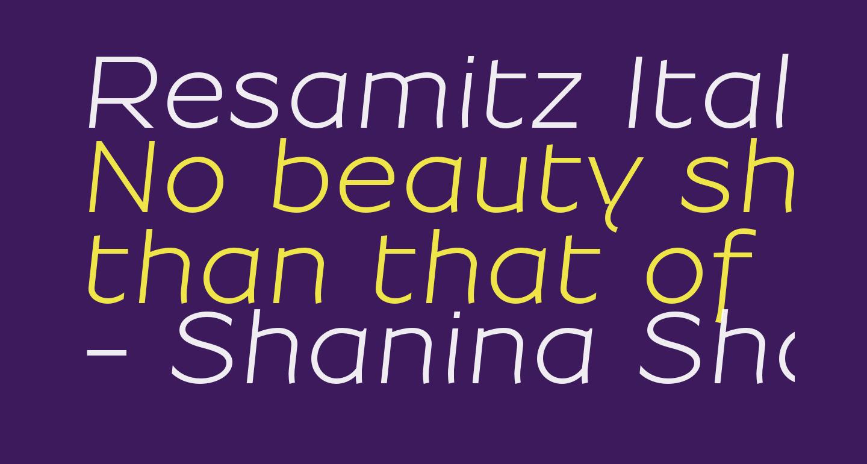 Resamitz Italic