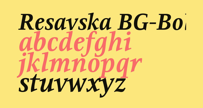 Resavska BG-Bold Italic