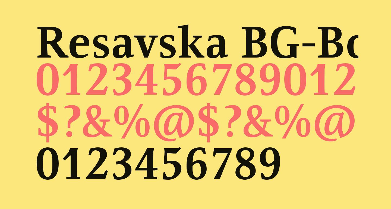 Resavska BG-Bold