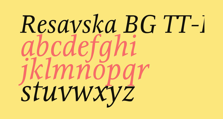 Resavska BG TT-Italic