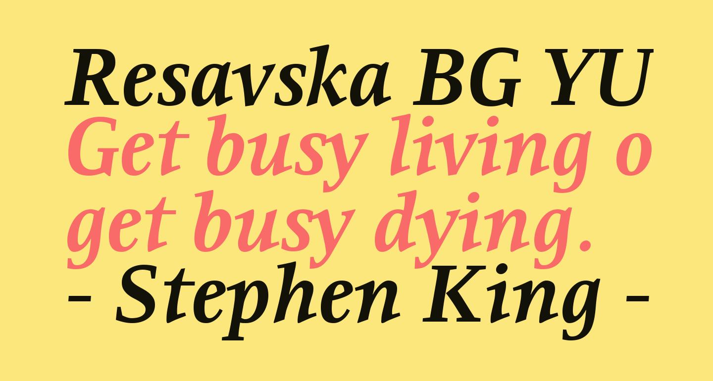 Resavska BG YU-Bold Italic