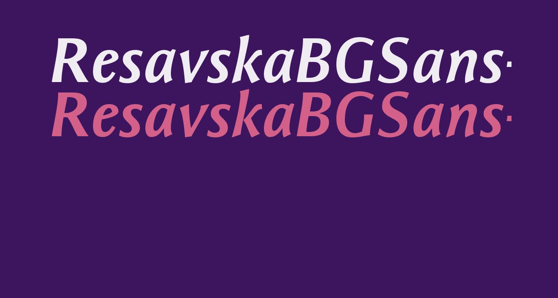 ResavskaBGSans-BoldItalic