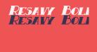 Resavy Bold Italic