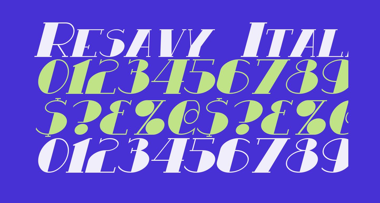 Resavy Italic