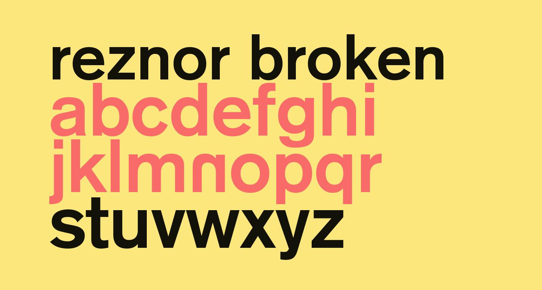 Reznor Broken