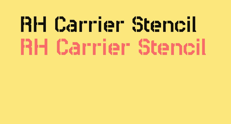 RH Carrier Stencil