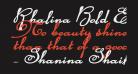 Rhalina Bold Expanded Italic