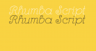 Rhumba Script NF