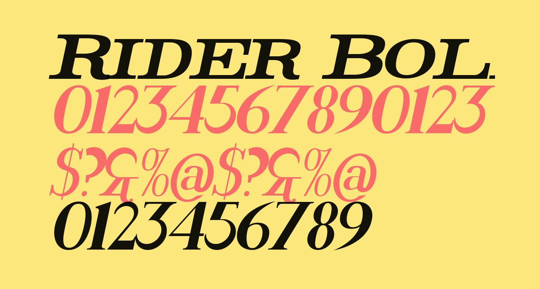 Rider Bold Italic