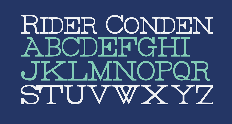 Rider Condensed Light