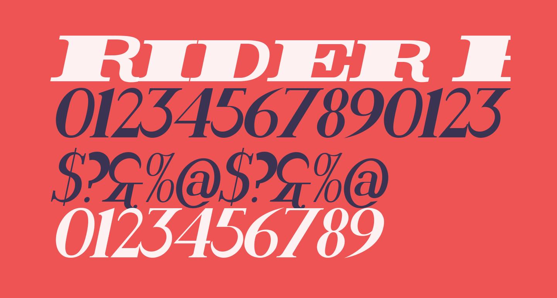 Rider ExtraBlack Italic