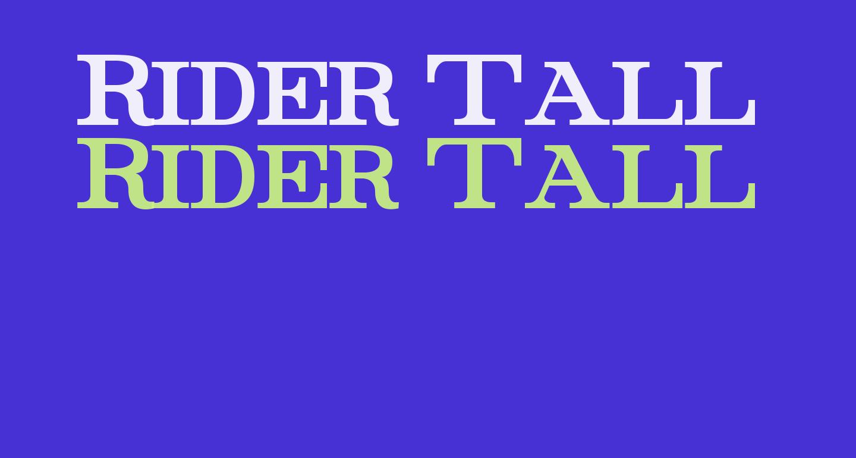 Rider Tall Ultra-condensed Bold