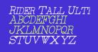 Rider Tall Ultra-condensed Light Italic