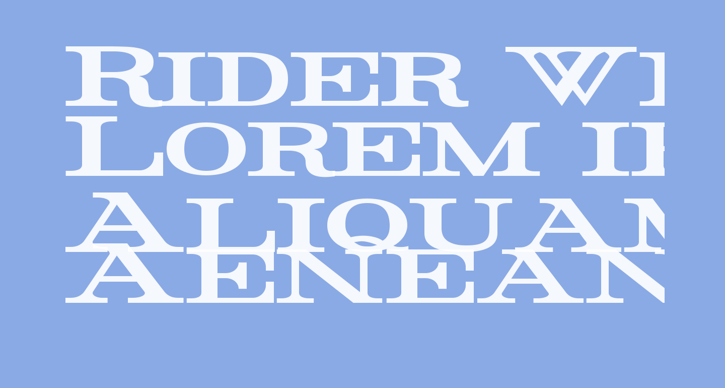 Rider Wide Expanded Bold