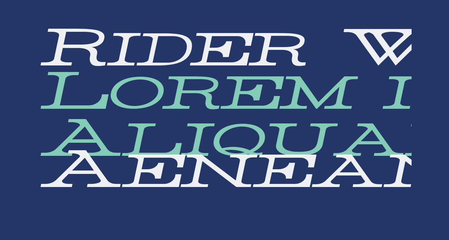Rider Widest Ultra-expanded Light Italic