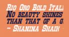Rio Oro Bold Italic
