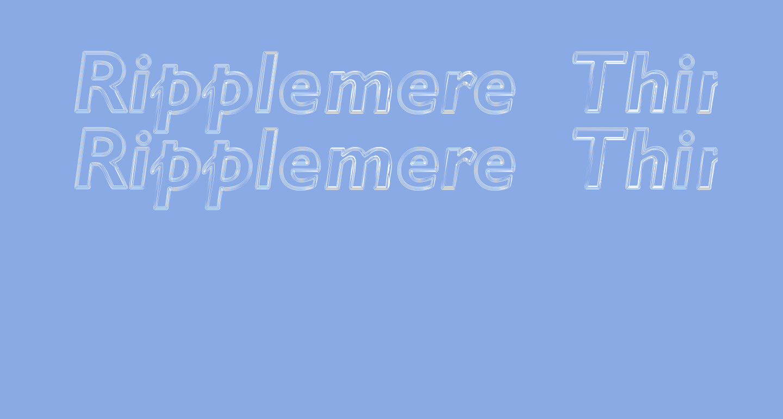 Ripplemere  ThinItalic
