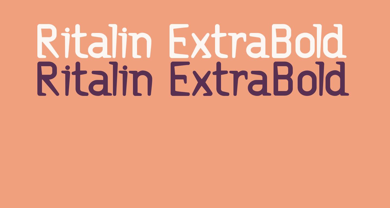 Ritalin ExtraBold