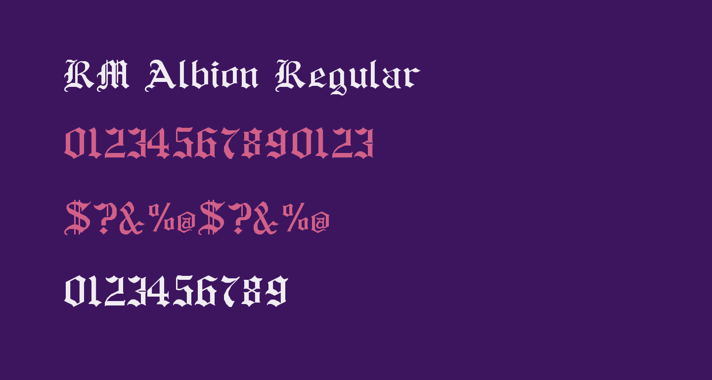 Rm Albion Regular Free Font What Font Is