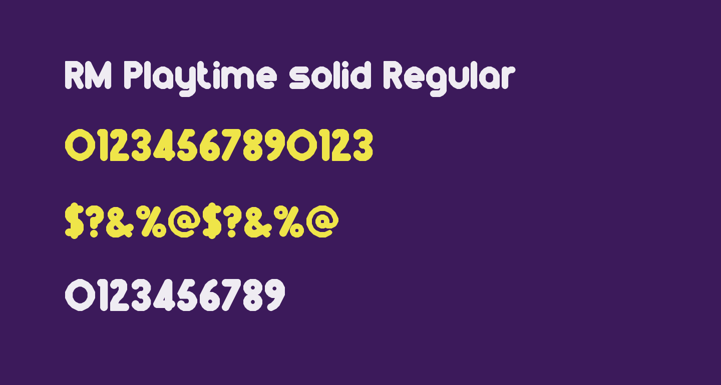 RM Playtime solid Regular