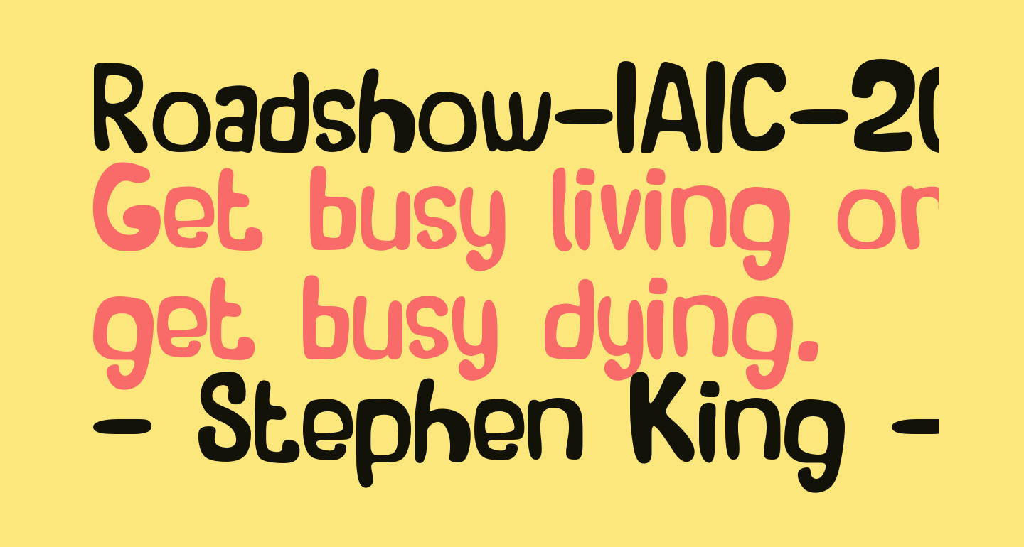 Roadshow-IAIC-2013