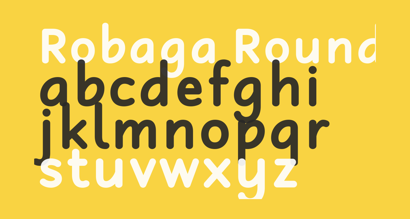 Robaga Rounded Bold
